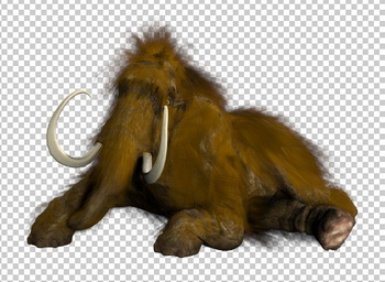 Клипарт мамонт, для Фотошоп в PSD и PNG, без фона