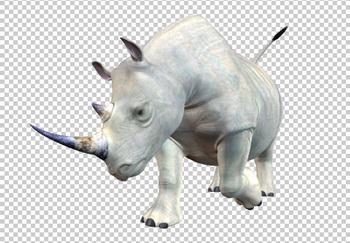Клипарт носорог, для Фотошоп в PSD и PNG, без фона