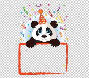 Клипарт панда, рамка для фотошоп, PSD PNG без фона