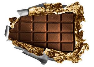 Клипарт плитка шоколада, для Фотошоп в PSD и PNG, без фона
