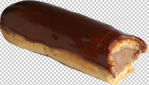 Клипарт эклер шоколадный, для Фотошоп в PSD и PNG, без фона