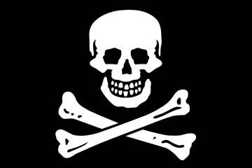 Клипарт пиратский флаг, для Фотошопа в PSD и PNG, без фона