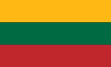 Клипарт флаг Литвы, для Фотошопа в PSD и PNG, без фона