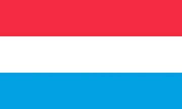 Клипарт флаг Люксембурга, для Фотошопа в PSD и PNG, без фона