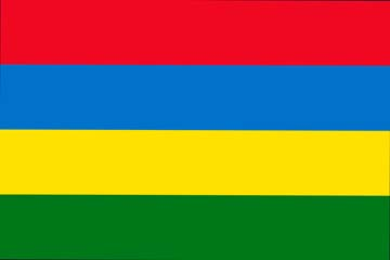 Клипарт флаг Маврикия, для фотошоп, PSD и PNG без фона