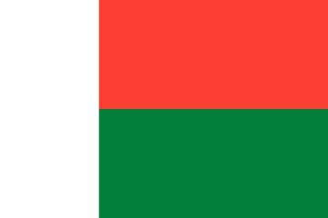 Клипарт флаг Мадагаскара, для Фотошоп в PSD и PNG, без фона