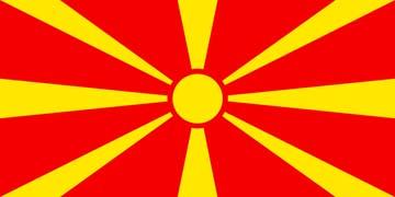 Клипарт флаг Македонии, для Фотошопа в PSD и PNG, без фона