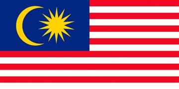 Клипарт флаг Малайзии, для Фотошоп в PSD и PNG, без фона