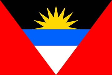 Клипарт флаг Антигуа и Барбуды, для Фотошоп в PSD и PNG, без фона