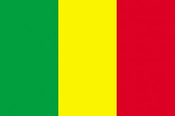 Клипарт флаг Мали, для Фотошоп в PSD и PNG, без фона