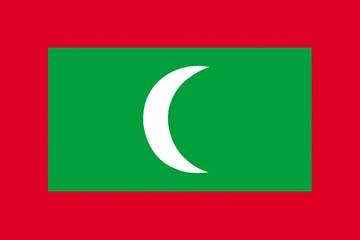 Клипарт флаг Мальдивских островов, для Фотошоп в PSD и PNG, без фона