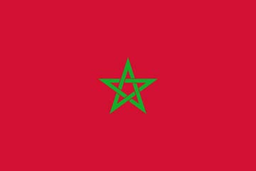 Клипарт флаг Марокко, для Фотошопа в PSD и PNG, без фона
