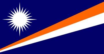 Клипарт флаг Маршалловых островов, для Фотошоп в PSD и PNG, без фона