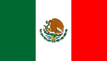 Клипарт флаг Мексики, для Фотошоп в PSD и PNG, без фона