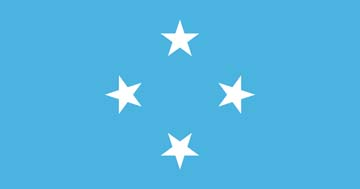 Клипарт флаг Микронезии, для Фотошопа в PSD и PNG, без фона