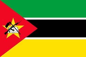 Клипарт флаг Мозамбика, для Фотошоп в PSD и PNG, без фона