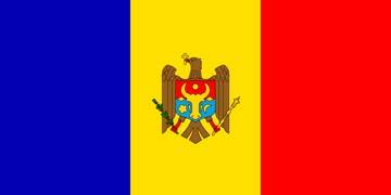 Клипарт флаг Молдавии, для Фотошоп в PSD и PNG, без фона