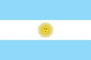 Клипарт флаг Аргентины, для Фотошопа в PSD и PNG, без фона