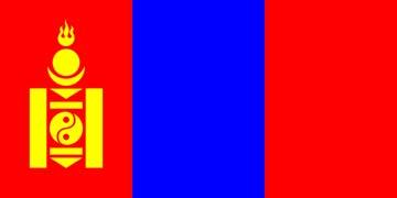 Клипарт флаг Монголии, для Фотошопа в PSD и PNG, без фона