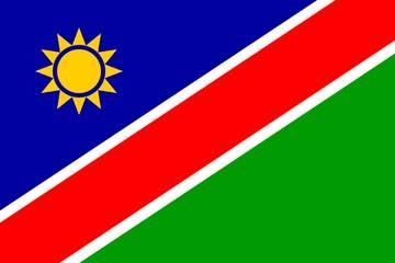 Клипарт флаг Намибии, для Фотошопа в PSD и PNG, без фона