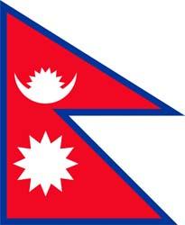 Клипарт флаг Непала, для Фотошопа в PSD и PNG, без фона