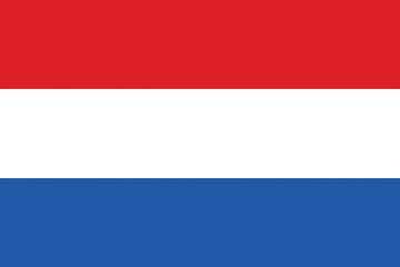 Клипарт флаг Нидерландов, для Фотошопа в PSD и PNG, без фона