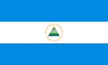 Клипарт флаг Никарагуа, для Фотошопа в PSD и PNG, без фона