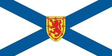 Клипарт флаг Новой Шотландии, для Фотошопа в PSD и PNG, без фона
