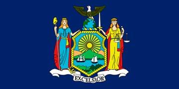 Клипарт флаг Нью-Йорка, для Фотошоп в PSD и PNG, без фона