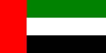 Клипарт флаг ОАЭ (Объединенные арабские эмираты), для Фотошоп в PSD и PNG, без    фона