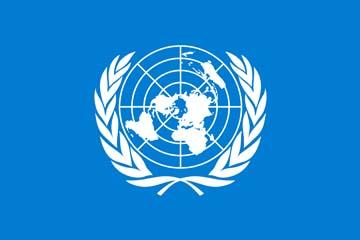 Клипарт флаг ООН (организация объединенных наций), для Фотошоп в PSD и PNG, без фона
