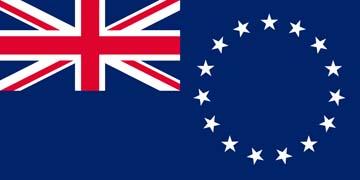 Клипарт флаг Острова Кука, для Фотошоп в PSD и PNG, без фона