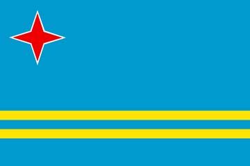 Клипарт флаг Арубы, для Фотошоп в PSD и PNG, без фона