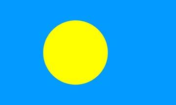 Клипарт флаг Палау, для Фотошоп в PSD и PNG, без фона