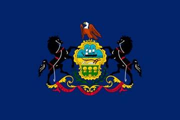 Клипарт флаг Пенсильвании, для Фотошоп в PSD и PNG, без фона