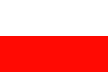Клипарт флаг Польши, для Фотошоп в PSD и PNG, без фона