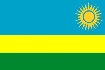 Клипарт флаг Руанды, для Фотошоп в PSD и PNG, без фона