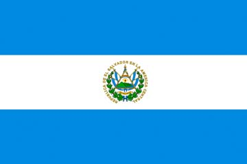 Клипарт флаг Сальвадора, для Фотошоп в PSD и PNG, без фона