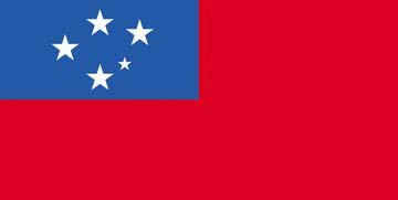 Клипарт флаг Самоа, для Фотошоп в PSD и PNG, без фона