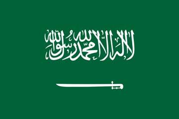 Клипарт флаг Саудовской Аравии, для Фотошоп в PSD и PNG, без фона