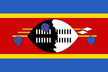 Клипарт флаг Свазиленда, для Фотошоп в PSD и PNG, без фона