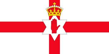 Клипарт флаг Северной Ирландии, для Фотошоп в PSD и PNG, без фона