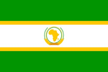 Клипарт флаг Африканского союза, для Фотошоп в PSD и PNG, без фона