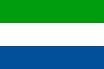 Клипарт флаг Сьерра-Леоне, для фотошоп, PSD и PNG без фона