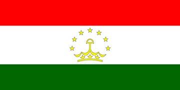 Клипарт флаг Таджикистана, для Фотошоп в PSD и PNG, без фона