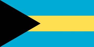 Клипарт флаг Багамских островов, для Фотошопа в PSD и PNG, без фона