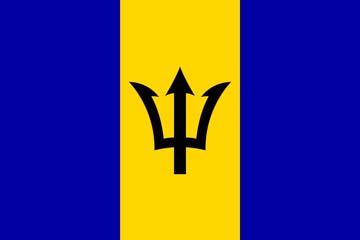 Клипарт флаг Барбадоса, для Фотошоп в PSD и PNG, без фона