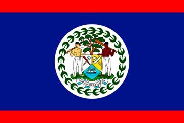 Клипарт флаг Белиза, для Фотошоп в PSD и PNG, без фона