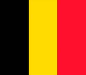 Клипарт флаг Бельгии, для Фотошоп в PSD и PNG, без фона