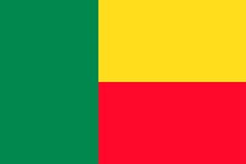 Клипарт флаг Бенина, для Фотошопа в PSD и PNG, без фона